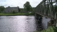 MS View of bridge on river / Cromdale, Speyside, Scotland