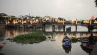 WS View of Bridge on river / Hoi An, Quang Nam, Vietnam