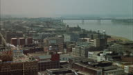 WS PAN View of bridge over river / Memphis, Tennessee, United States