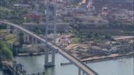 AERAIL WS View of bridge / Stralsund, Mecklenburg-Vorpommern, Germany