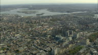 AERIAL WS View of Bronx / New York City, New York, USA