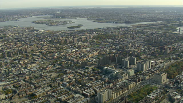 AERIAL WS View of Bronx / New York City, New York, USA