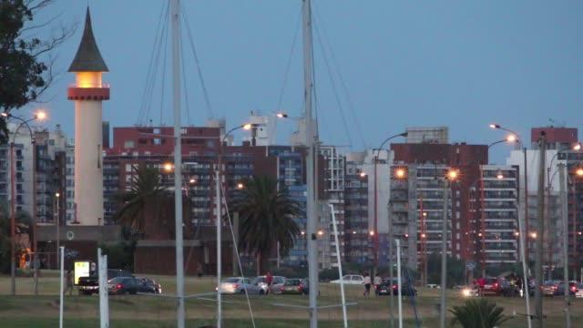 View of Buceo neighborhood from Puertito del Buceo, Montevideo, Uruguay