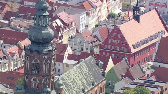 WS ZI TS AERIAL View of Building church in city / RuegenGreifswaldLubmin, Mecklenburg-Vorpommern, Germany