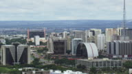 WS AERIAL View of buildings and tower / Brasilia, Brazil