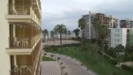 MS View of buildings near by sea at the low season / Alicante, Alicante, Spain