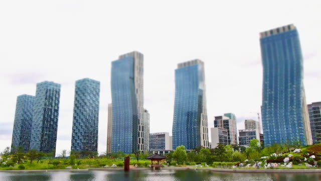 WS T/L View of buildings / Songdo, Incheon, South Korea
