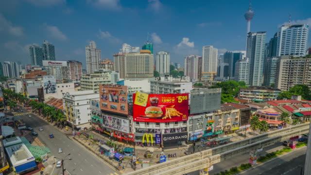 WS T/L View of Bukit Bintang intersection in KL / Kuala Lumpur, Malaysia