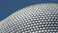 CU PAN View of Bullring shopping centre / Birmingham, UK