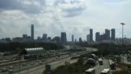 WS View of Bustling Tel Aviv Skyline with high buildings of downtown / Tel Aviv, Dan metropolitan, Israel