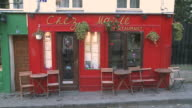 MS View of café building at Montmartre / Paris, Ile de France, France