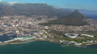 WS AERIAL View of Cape Town / Cape Town, Western Cape, South Africa
