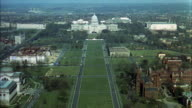 AERIAL WS View of Capitol building / Washington D.C. United States
