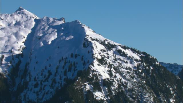 WS PAN View of Cascades mountains / Washington, USA