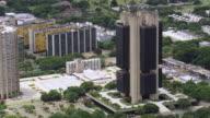 WS AERIAL View of Central Bank / Brasilia, Brazil
