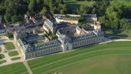 MS AERIAL ZI View of Chantilly Stables / Picardy, France