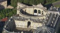 MS AERIAL View of Chantilly Stables / Picardy, France