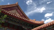 View of Chinese architecture building roof in Beijing China