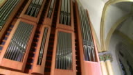 MS PAN View of church organ / Saarburg, Rhineland-Palatinate, Germany