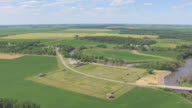 WS AERIAL TS View of Circle grounds at Fort Abercrombie / North Dakota, United States
