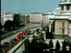MS ZO WS View of city, Belgrade, Yugoslavia / AUDIO
