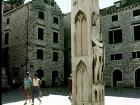 MS View of city, Dalmatia, Dubrovnik, Croatia / AUDIO