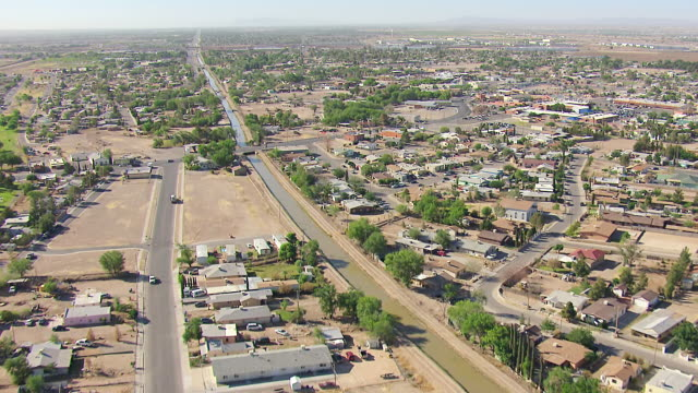 WS AERIAL View of City / El Paso, Texas, United States