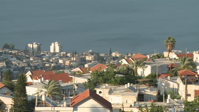 MS View of city in front of Sea / Tiberias, Mechoz haTzafon, Israel