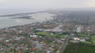 WS AERIAL View of city / Kings Cliff, New South Wales, Australia