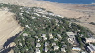 WS AERIAL ZO View of city near dead sea / Norrn Judea Desert, Israel