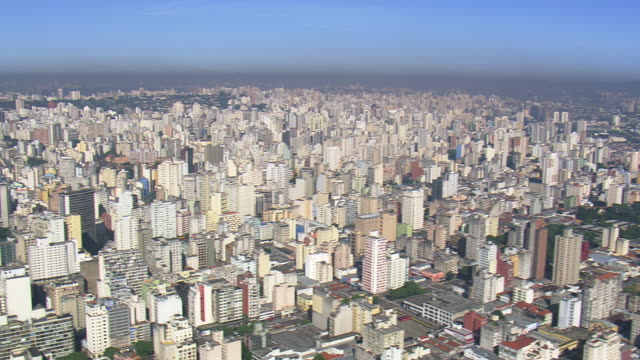WS AERIAL View of City / Sao Paulo, Brazil