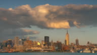 WS view of city skyline from Hoboken / New York City, New York, USA
