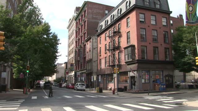 View of City Street in Philadelphia United States