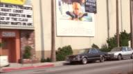 MS POV View of city street / Los Angeles, California, United States