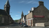 WS View of city street / Rothes, Speyside, Scotland