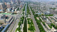 AERIAL View of city wall and cityscape/ Xi'an, Shaanxi, China