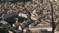 WS AERIAL View of city with Saint Peters Basilica / Rome, Italy
