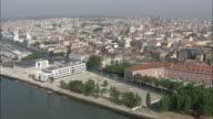 WS POV View of cityscape Cais do Sodre / Lisbon, Portugal