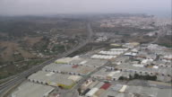 WS POV AERIAL View of cityscape / Estepona, Andalusia, Spain