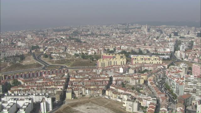 WS POV View of cityscape / Lisbon, Portugal