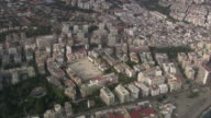 WS POV AERIAL View of cityscape / Marbella, Andalusia, Spain
