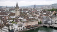 WS View of cityscape with water / Zurich, Switzerland
