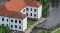 WS AERIAL ZO View of Clausholm Slot / Arhus, Denmark