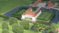 WS AERIAL DS View of Clausholm Slot / Arhus, Denmark