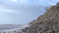 WS View of cliffs of Jurassic strata at Monmouth Beach, Lyme Regis