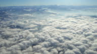 WS AERIAL View of clouds and mountains top / Basel, In Flight