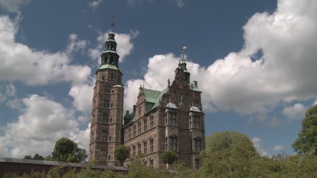 WS T/L View of clouds moving over Rosenborg castle / Copenhagen, Denmark, Denmark