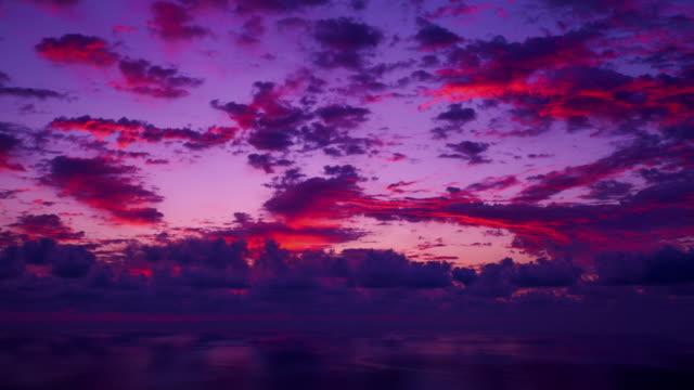 WS T/L View of cloudscape at Sun rising / Ulleung, Gyeongsangbuk do, South Korea