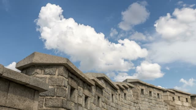 View of cloudscape over Seoul City Wall (also called as Hanyangdoseong and it's Korea Historic Place 10)