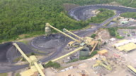 WS AERIAL ZI View of coal mine area / Mandalong, New South Wales, Australia